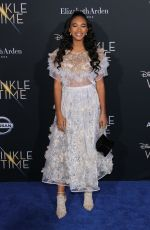 CHANDLER KINNEY at A Wrinkle in Time Premiere in Los Angeles 02/26/2018