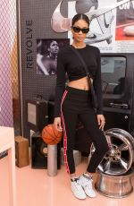 CHANEL IMAN at Revolve x Nike 1s Reimagined Pop-up Event in Los Angeles 02/16/2018