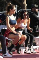 CHANTEL JEFFRIES at Chacha x Foxx Charity Celebrity Basketball in Thousand Oaks 02/17/2018