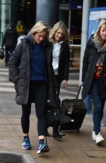 CHARLOTTE HAWKINS and SARA COX at Piccadilly Train Station in Manchester 02/08/2018