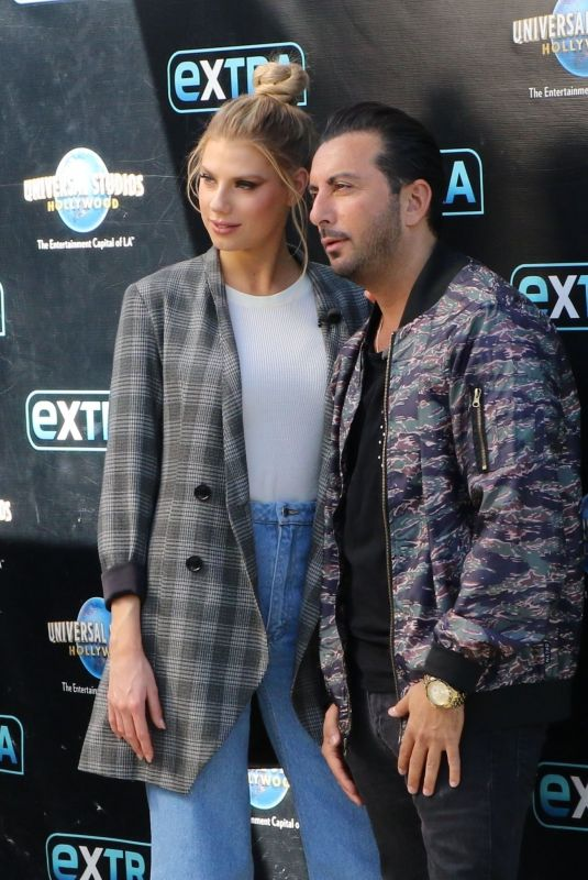 CHARLOTTE MCKINNEY and Danny Abeckaser on the Set of Extra in New York 02/01/2018