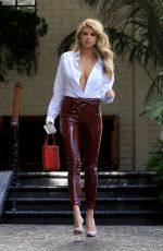 CHARLOTTE MCKINNEY Leaves Chateau Marmont in Beverly Hills 02/02/2018