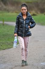 CHELSEA HEALEY Working Out at a Park in Manchester 02/18/2018