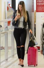 CHERYL MAITLAND at LAX Airport in Los Angeles 02/15/2018