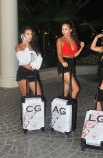 CHLOE, AMELIA and LAURYN GOODMAN Arrives in Thailand 02/02/2018