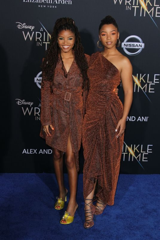 CHLOE and HALLE BAILEY at A Wrinkle in Time Premiere in Los Angeles 02/26/2018