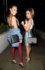 CHLOE and LAURYN GOODMAN at Menagerie Bar and Restaurant in Manchester 02/17/2018