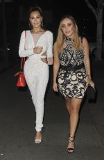 CHLOE and LAURYN GOODMAN Night Out in London 02/08/2018