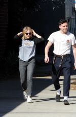 CHLOE MORETZ and Brookyln Beckham Out for Lunch in Studio City 02/04/2018