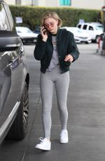 CHLOE MORETZ at a Gas Station in Los Angeles 02/27/2018