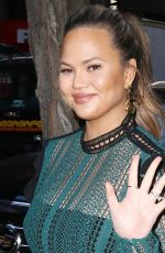 CHRISSY TEIGEN Arrives at Today Show in New York 01/31/2018
