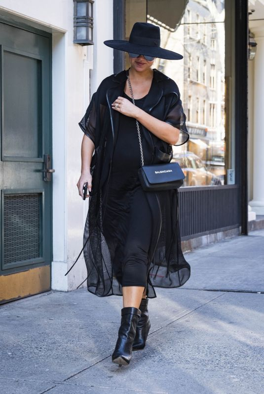 CHRISSY TEIGEN Out and About in New York 02/21/2018