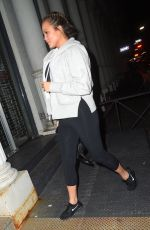 CHRISSY TEIGEN Out for Dinner in New York 02/27/2018