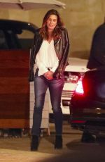 CINDY CRAWFORD Leaves a Restaurant in Los Angeles 01/31/2018