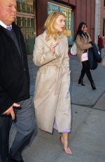 CLAIRE DANES Leaves CBS Studios in New York 02/05/2018
