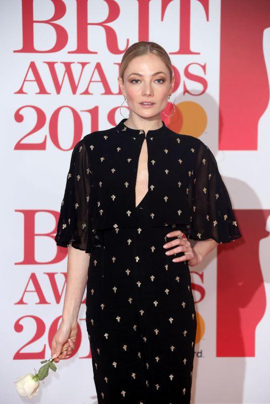 CLARA PAGET at Brit Awards 2018 in London 02/21/2018