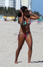 CLAUDIA JORDAN in Bikini on the Beach in Miami 02/14/2018
