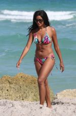 CLAUDIA JORDAN in Bikini on the Beach in Miami 02/14/2018