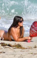 CLAUDIA ROMANI in Red and White Bikini on Valentine