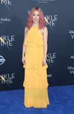 CONSTANCE WU at A Wrinkle in Time Premiere in Los Angeles 02/26/2018