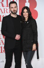COURTENEY COX at Brit Awards 2018 in London 02/21/2018