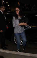 COURTENEY COX at Los Angeles International Airport 02/16/2018