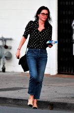 COURTENEY COX Leaves a Hair Salon in Los Angeles 01/31/2018