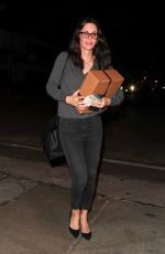 COURTENEY COX Out for Dinner at Craig