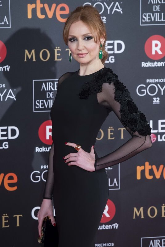 CRISTINA CASTANO at 32nd Goya Awards in Madrid 02/03/2018