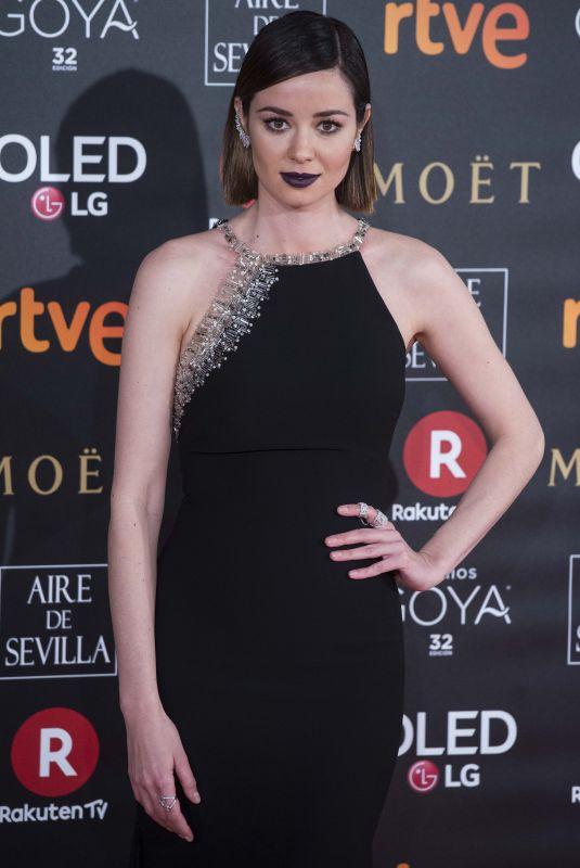 DAFNE FERNANDEZ at 32nd Goya Awards in Madrid 02/03/2018