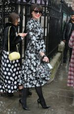 DAISY LOWE Arrives at Erdem Moralioglu Fashion Show at LFW in London 02/19/2018