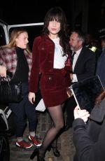 DAISY LOWE Arrives at Henry Holland Show at London Fashion Week 02/17/2018