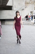 DAISY LOWE Arrives at Roland Mourret Fashion Show at LFW in London 02/18/2018