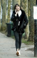 DAISY LOWE Out and About in London 02/22/2018