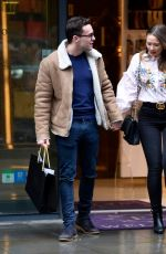DAISY WOOD-DAVIS and Luke Jerdy Out Shopping in Manchester 02/13/2018
