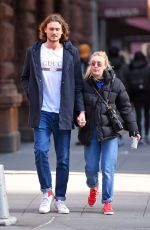 DAKOTA FANNING and Henary Frye Out in New York 02/14/2018