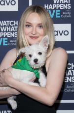 DAKOTA FANNING at Watch What Happens Live in New York 01/30/2018