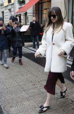 DAKOTA JOHNSON Leaves Her Hotel in Paris 02/05/2018