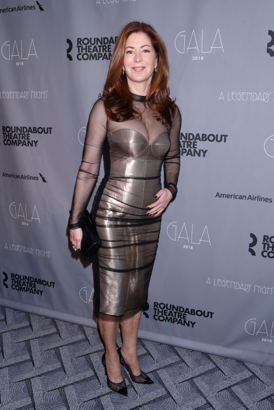 DANA DELANY at Roundabout Theatre Company Gala 2018 in New York 02/26/2018