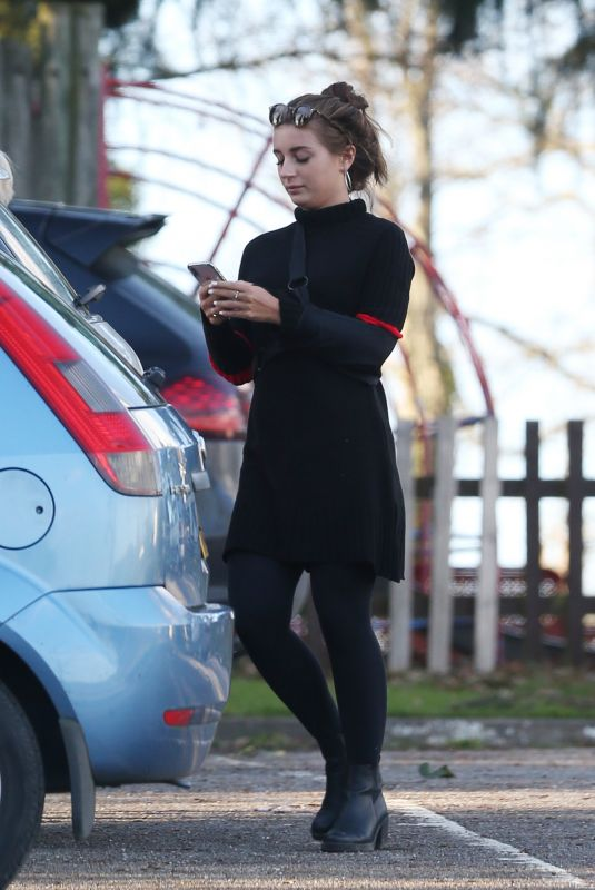 DANI DAYER Out and About in London 02/15/2018