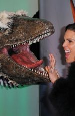 DANIELLE LLOYD at Dinosaurs in the Wild Exhibition in London 02/13/2018
