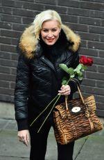 DENISE VAN OUTEN Leaves ITV Studios in London 02/14/2018