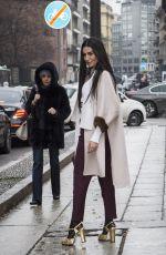 DIALA MAKKI Leaves Max Mara Show at Milan Fashion Show 02/22/2018