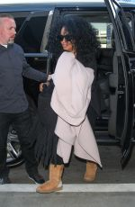DIANA ROSS at LAX Airport in Los Angeles 02/21/2018