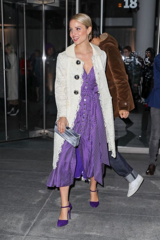 DIANNA AGRON Arrives at Carolina Herrera Fashion Show in New York 02/12/2018