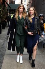 DOUTZEN KROES Leaves Mercer Hotel in New York 02/09/2018