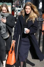 DOUTZEN KROES Out and About in New York 02/08/2018
