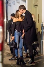 DUA LIPA and Isaac Carew Out Kissing in London 02/20/2018