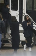 DUA LIPA on the Set of New Music Video in London 02/23/2018