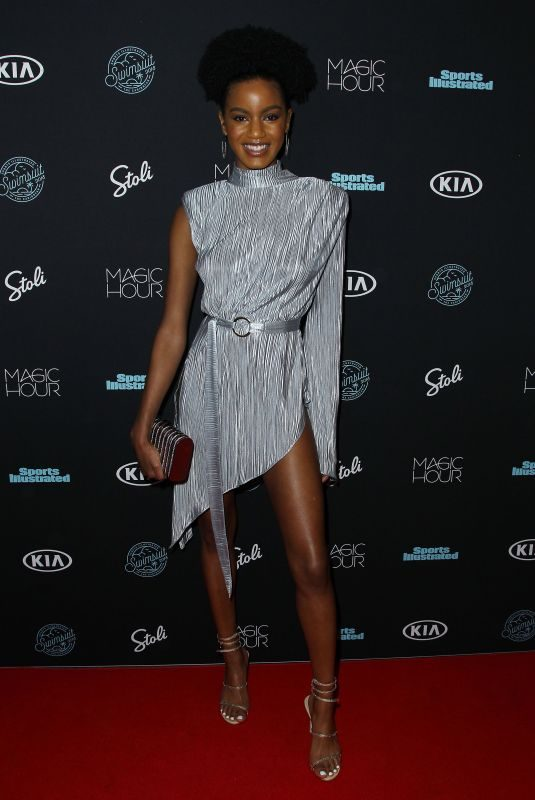 EBONEE DAVIS at Sports Illustrated Swimsuit Issue 2018 Launch in New York 02/14/2018